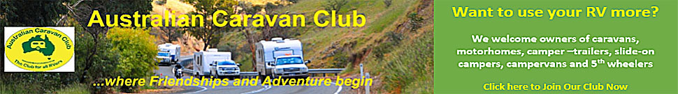 Australian Caravan Club advert