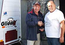 Mr Healey (right) with Sydney RV Group general manager Norman Roe